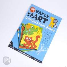 Micador Early Start Imagination Paper Pad - 5 x Colours A3,