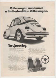 1973 Volkswagen Sports Bug Advertisement por fromjanet en Etsy