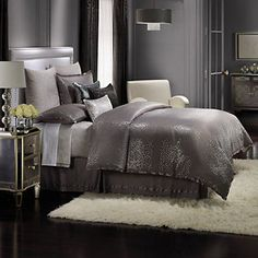 Looking for the perfect Jennifer Lopez Bedding Collection Parisian Dusk Comforter Set, Grey? Please click and view this most popular Jennifer Lopez Bedding Collection Parisian Dusk Comforter Set, Grey. Kohls Bedding Sets, Glam Bedding, Grey Comforter Sets, Glam Bedroom, Queen Bedding Sets, Luxury Bedding Sets, Home Decor Bedroom, Bedroom Ideas, Silver Bedding