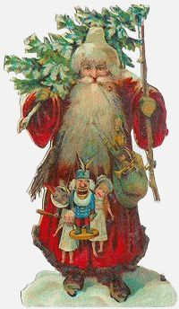 Father Christmas With Christmas Tree And Sack Of Toys Stock Photo, Royalty Free Image: 29396936 - Alamy Pagan Christmas, Christmas Fonts, Christmas Graphics, Christmas Scenes, Father Christmas, Christmas Love, Retro Christmas, Christmas Pictures, Vintage Christmas Images