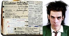 Few musicians are as word-drunk as Mr. Nick Cave from Warracknabeal, Australia, wouldn't you agree? As a younger man Cave kept a journal in which he jotted down new words he wanted to remember and arranged them in alphabetical order. It's definitely a good tip for writers starting out, you're always learning, there's always something to learn. Take notes endlessly and don't waver!  http://dangerousminds.net/comments/nick_caves_handwritten_dictionary