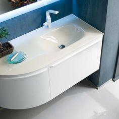 Mobile Bagno Eden con due cassetti e due ante cm 120 lavabo in ...