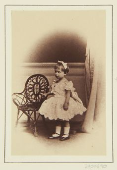Princess Charlotte of Prussia, January 1863 [in Portraits of Royal Children Vol.6 1862-1863] | Royal Collection Trust