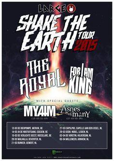 De Large Shake The Earth Tour 2015 is een nieuw initiatief, opgezet door Shake The Earth Events met Large als hoofdsponsor, waarbij lifestyle en alternatieve muziek samensmelt in een stevige tournee van 10 shows verspreid over Nederland en België! Meer lezen? Klik op de flyer..