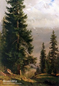 Grindelwald Valley by Albert Bierstadt - Oil Painting Reproduction - BrushWiz.com