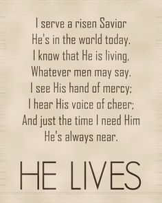 ~ HE LIVES! ~Study the ways of God and move to serve like Christ  www.magnificatmealmovement.com