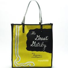 Kate Spade The Great Gatsby Tote BNWT.  Don't miss your chance to get your hands on this hard to find tote from Kate Spade. Never been carried, in pristine condition. Leather trim handles are still covered. Interior zipper pocket. kate spade Bags Shoulder Bags