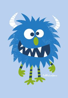 Nursery art boy boys monster print set monster by BubbleGumYears