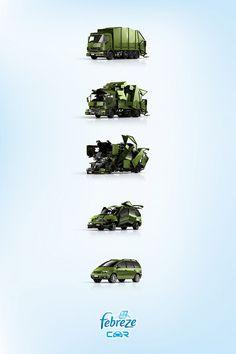 Print ad: Febreze Car: Garbage Truck