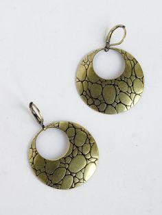 Vintage Crocodile Pattern Circle Eighties Gold by goodiesoldies