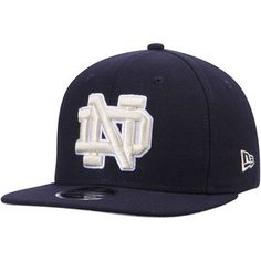 306e0010daa Notre Dame Fighting Irish New Era State Clip Original Fit 9FIFTY Adjustable Snapback  Hat - Navy