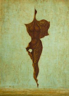 "jareckiworld: ""František Muzika - Larva X (oil and tempera on cardboard, "" Tempera, Surrealism, Moose Art, Painting, Animals, Google Search, Death, Animales, Animaux"