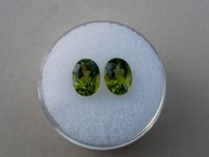 Peridot oval gem pair 8x5mm each by pinnaclediamonds on Etsy