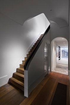 Modern Victorian Gets Addition and Renovation - Design Milk Modern Victorian, Victorian Homes, Staircase Railings, Staircases, Stained Glass Door, Interior Decorating, Interior Design, Decorating Ideas, Space Architecture