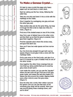 How to make a Genesa Crystal, instructions