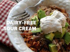 Very easy dairy-free sour cream - Paleo AIP-friendly #paleo #AIP #autoimmuneprotocol