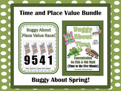 Buggy About Springtime Math Bundled Centers For Common Core $ FREE MATH CENTER SIGN WHEN YOU DOWNLOAD THE FREE PREVIEWS! COMMON CORE STANDARDS CCSS 1.MD.B.3 and CCSS 2.MD.C.7 ~By www.FernSmithsClassroomIdeas.com