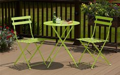 Cosco Home and Office Products 3 Piece Bright Green Folding Bistro Set
