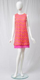 A-Linien Kleid Vanissa im Rosa und Orange | ana alcazar