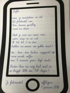 Smartphone nieuwjaarsbrief