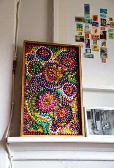 Bead Mosaic for Mardi Gras. Make this craft project for the Brownie Painting or Senior Collage Artist badges, for Mardi Gras celebration or for fun. Directions available at FreeKidsCrafts.com, a member of the MakingFriends.com family.