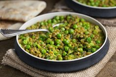 One-Pot Curried Lentils and English Peas - The Veggie Chick