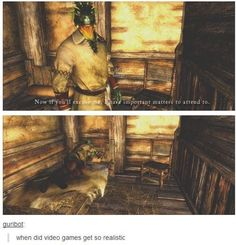 Funny pictures about Realism in Skyrim. Oh, and cool pics about Realism in Skyrim. Also, Realism in Skyrim. Video Game Memes, Video Games Funny, Funny Games, Funny Pranks, Videos Funny, Elder Scrolls Memes, Elder Scrolls Skyrim, Wii, Skyrim Funny