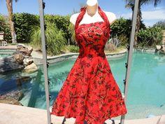 Vintage 1950s 50s Hawaiian dress sundress by DesignsintheDesert, via Etsy.