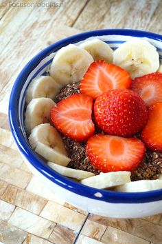 Ontbijt Archives - Focus on Foodies Clean Eating Recipes, Healthy Recipes, Healthy Food, Superfoods, Fruit Salad, Acai Bowl, Smoothies, Foodies, Breakfast Recipes