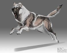 Beefy wolf adopt: CLOSED by Chickenbusiness on DeviantArt Wild Creatures, Mythical Creatures, Werewolf Name, Wolf Character, Wolf Sketch, Wolf Images, Fantasy Wolf, Wolf Design, Beautiful Wolves