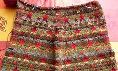 www.ulrike-strickt.de Fair Isles, Fair Isle Knitting, Silk Ribbon Embroidery, Knitting For Beginners, Boho Shorts, Knitting Patterns, Knit Crochet, Kaiser, Ursula