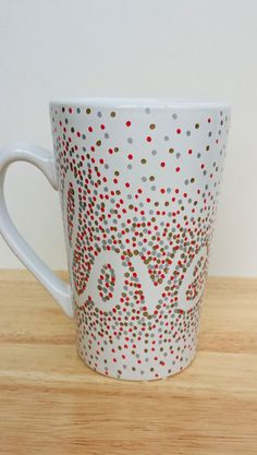 Completed Dotted Sharpie Mug