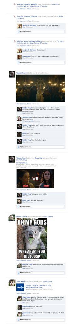 Game Of Thrones Facebook Recap Season 3 Episode 9   Happy Place