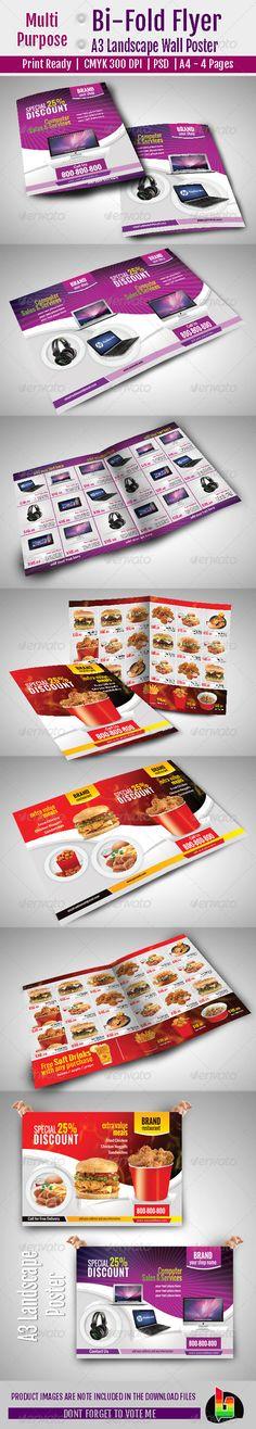 Multi Purpose Bi-Fold Flyer & A3 Poster