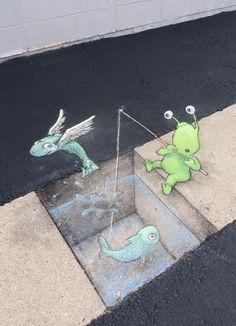 Imagen de http://www.ufunk.net/wp-content/uploads/2014/09/Chalk-Street-Art-David-Zinn-19.jpg.