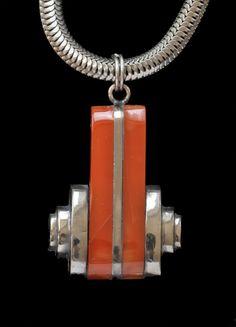 JAKOB BENGEL Attrib. Art Deco Pendant