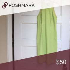 Stunning cocktail dress! Lime green cocktail dress Laundry by Shelli Segal Dresses Asymmetrical