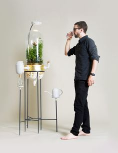 Royal College of Art graduate Pratik Ghosh has designed a home filtration system that's powered by herbs and purifies waste water from the kitchen.