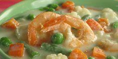 Zeleninová polévka. Recepty — Podravka   S Podravkou chutná lépe Thai Red Curry, Soup Recipes, Shrimp, Seafood, Vegetables, Ethnic Recipes, Soups, Sea Food, Veggies