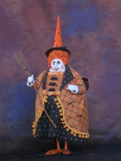 Halloween Witch Art Doll by   Charles Batte of ChasBatteStudio on Etsy