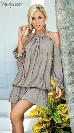Draped Billow Dress, $53.95 #besexy