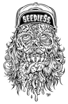 BLACK & WHITE Illustrations by DH
