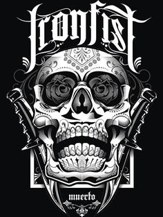Artwork for iron fist clothing by Tommy Surya, via Behance