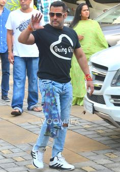 Salman Khan Being Bhai Tshirt and sunglasses