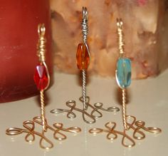 Bead & Wire Incense Holders