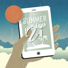 Smart phone in hand. Vector Clipart, Clipart Images, Summer Clipart, Most Beautiful Words, English Language, Royalty Free Images, Smartphone, Clip Art, Iphone