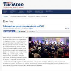 Título: April apresenta novo produto e campanha de incentivo na WTM LA. Veículo: Jornal do Turismo. Data: 20/04/2015. Cliente: April