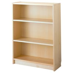 """BILLY Bookcase - birch veneer, 31 1/2x11x41 3/4 """" - IKEA - closed back to this (adjustable shelves)"""