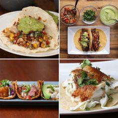 Healthy Tacos 4 Ways
