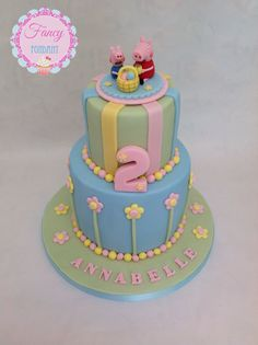 A Peppa Pig Easter Cake made by Fancy Fondant